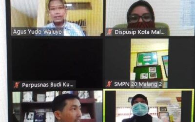 SMPN 20 Ikuti Surveilans Online Akreditasi Perpustakaan Nasional